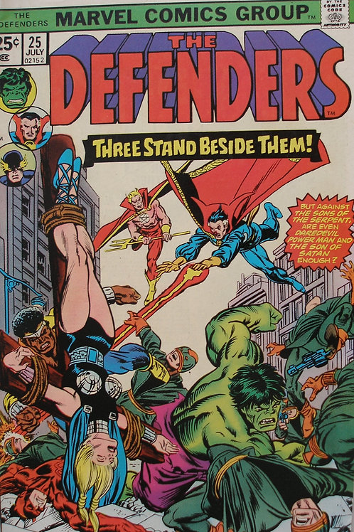 The Defenders #25 Three Stand Beside Them! V1