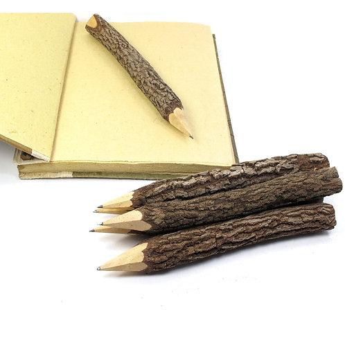 Rustic Bark Graphite Pencils
