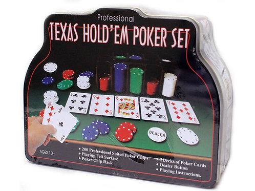 Professional Texas Hold'em Poker Set In Tin