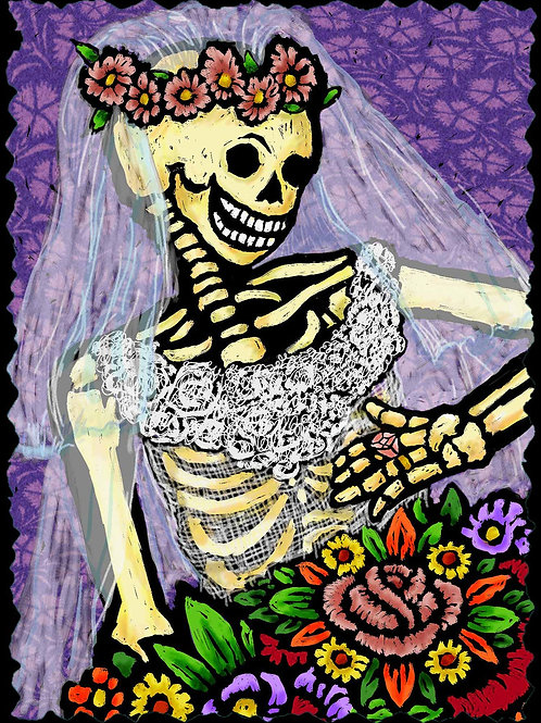 Bride - Dia De Los Muertos Greeting Cards