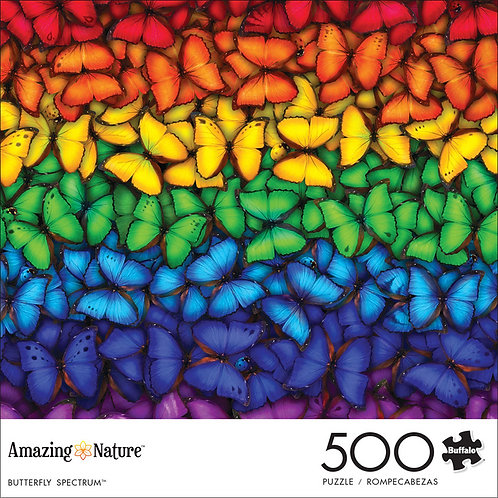 Amazing Nature Butterfly Spectrum 500 Piece Jigsaw Puzzle