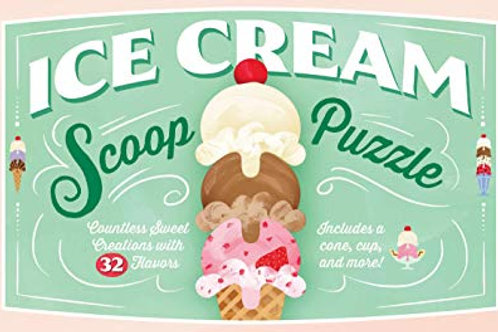 Ice Cream Scoop Puzzle: Countless Sweet Creations with 32 Flavors