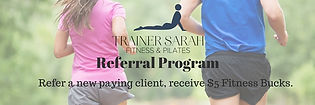 Trainer Sarah Fitness & Pilates Referral Program