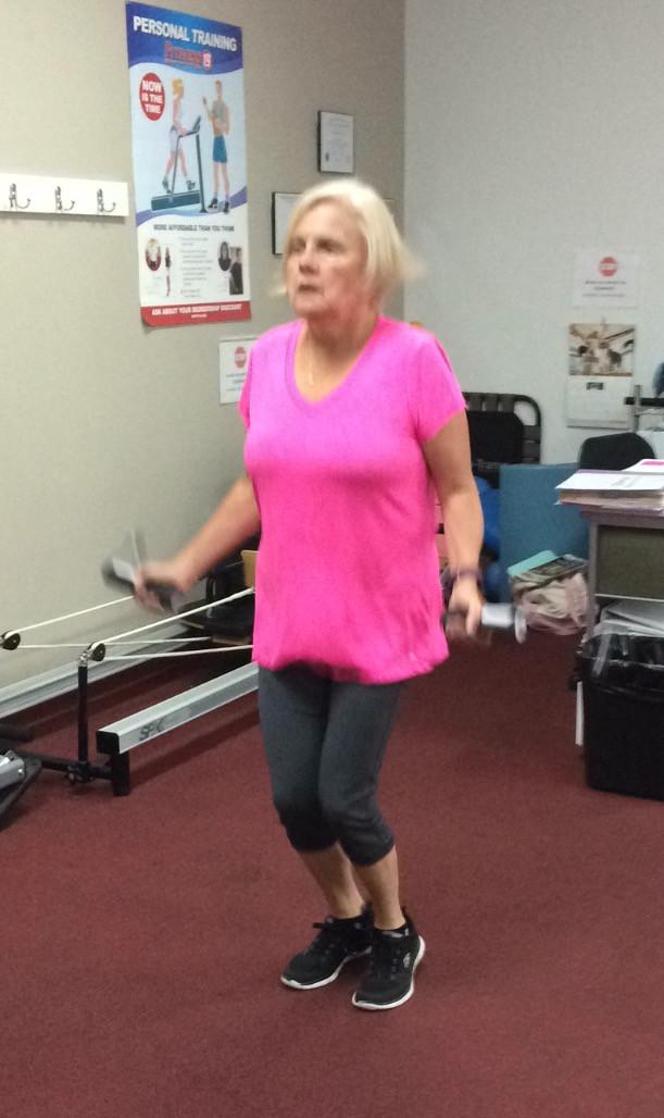 Kathy jump roping