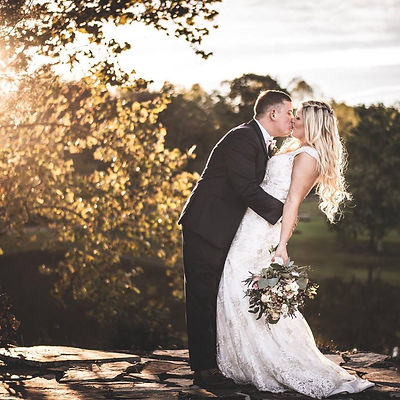 Stunning bride showing her groom some love.