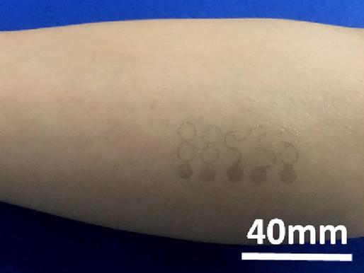 Construido el tatuaje electrónico más fino del mundo empleando Grafeno