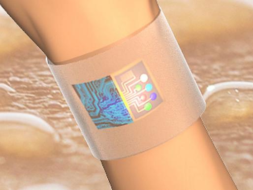 Sensor para monitorizar la salud de una persona a través de su sudor