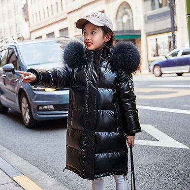 NEW Fashion 2020 Children Warm Winter Down Jackets for Girl