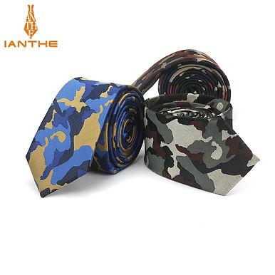 Mens Slim Tie Camouflage Pattern