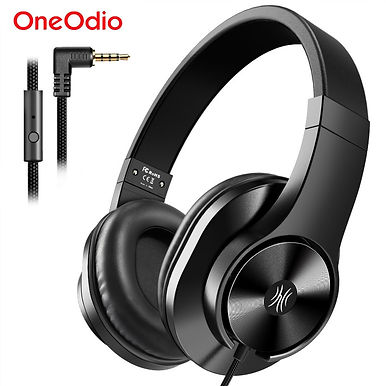 Oneodio T3 Over Ear Wired Stereo Headphones With Microphone - 3.5mm Audio Jack