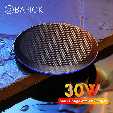 Bapick 30W Universal Fast Qi Wireless Charger for Smart Phones