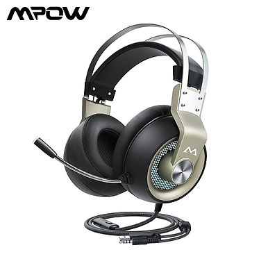 Mpow EG3 Pro Gaming Headset 50mm Driver USB Wired Control Noise Cancelling