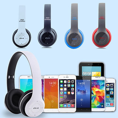 P74 Wireless Headphones Support SD Card 9D HIFI Stereo Foldable Headset