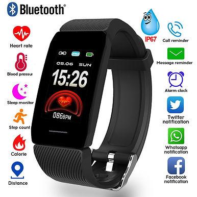 "Jakcom 1.14"" Smart Watch Weather Display/ Blood Pressure/ Heart Rate Monitor"