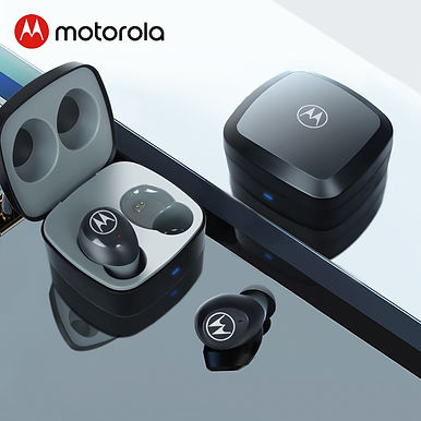 Motorola VerveBuds 100 True Wireless Earbuds with Comfort Fit and 14 Hour Play