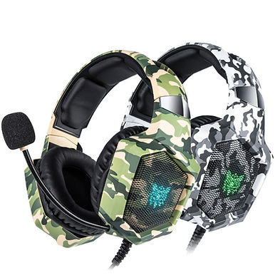 ONIKUMA K8 Camouflage Gaming Casque Wired With Microphone LED Lights