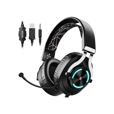EKSA E3000 Gaming Headset For Xbox One, PC, PS4 With RGB Light
