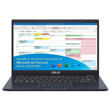 ASUS VivoBook L410 Win10s Laptop 14Inch Full HD 4GB RAM-64GB eMMc Ms Office 365
