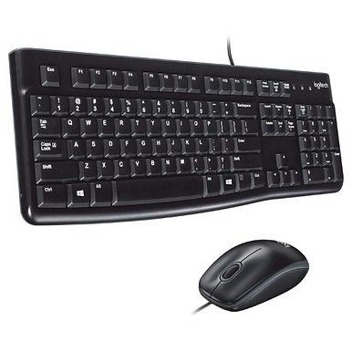 Logitech K120 Wired Keyboard, QWERTY - Black