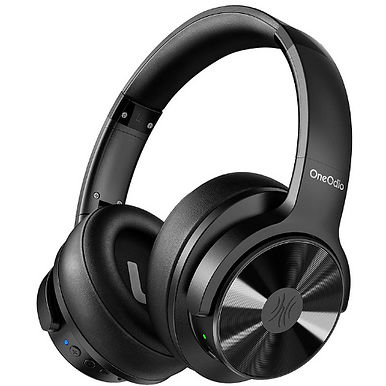OneOdio Over Ear Hybrid Noise Cancelling Bluetooth Headphones - Black
