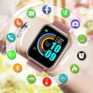 FitPro X1 Smart Watch - Heart Rate Monitor With USB charging case