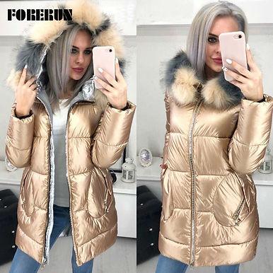 Hooded Jacket Women Long Winter Coat