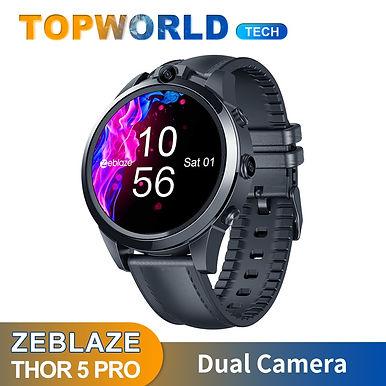 "Zeblaze THOR5  1.6"" IPS Display Smart Watch 4G/ 3GB+32GB Dual Camera Face Unlock"