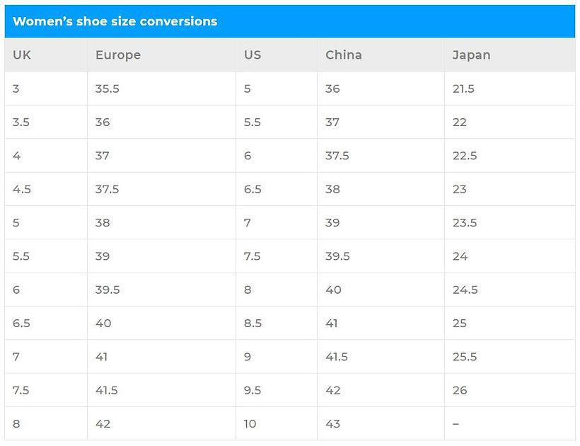 Women's shoes size conversion.JPG