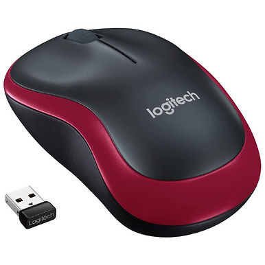 Logitech M185 Wireless Mouse 2.4GHz with USB Mini Receiver - Long Battery Life