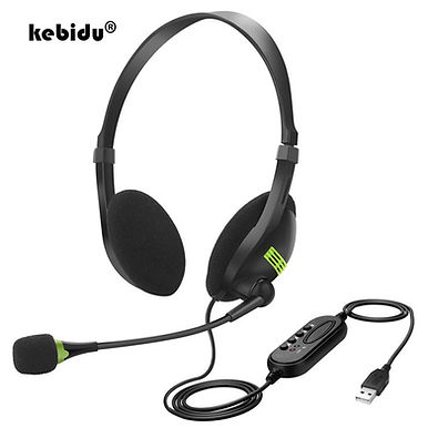 Kebidu Universal Wired Headphones With Microphone Noise Cancelling