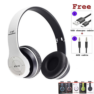 P47 Headphones Wireless Bluetooth Headphones Foldable For Phone PC Tablet