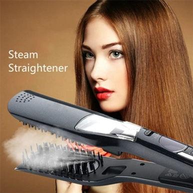 Aister LCD SteamPod Hair Straightener For Dry & Wet