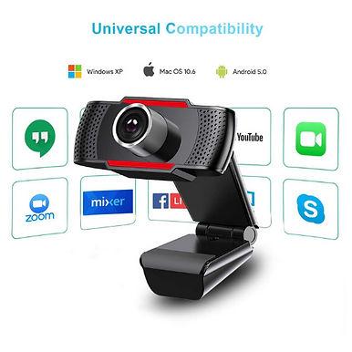 JOYACCESS 1080P HD USB Webcam For PC / Video Calls Conferencing