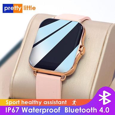 "PrettyLittle Q-82 Bluetooth Call & Health Tracker 1.7"" HD Smartwatch - Rose Gold"