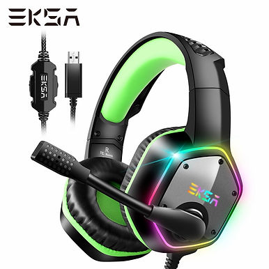 EKSA E1000 Wired USB Gaming Headset 7.1 Surround Sound For PS4 / PS5 With RGB