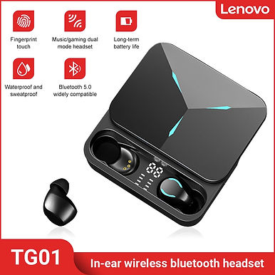 Lenovo TG01 Wireless Bluetooth Earphones Noise Reduction In-Ear For Android/iOS
