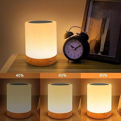 Bedroom Multicolor USB LED Table Lamp