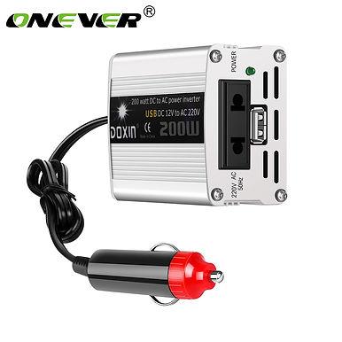 Onever 200W 12V DC to AC 220V Car Power Inverter
