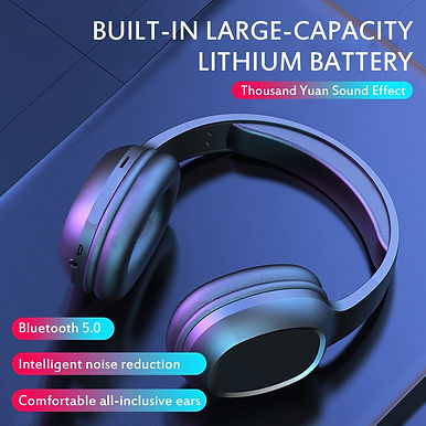 T5 HiFi Over Ear Active Noise Cancelling Wireless Bluetooth 5.0 Headphones