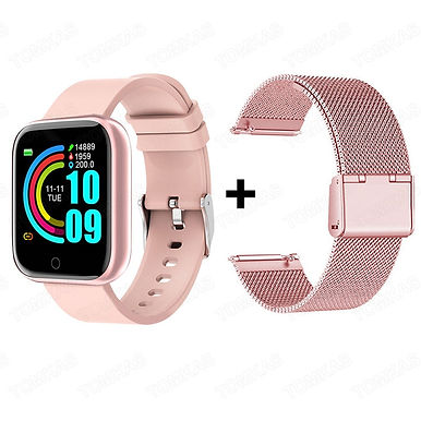 FitPro X1 Smart Watch Heart Rate Monitor With USB charging case