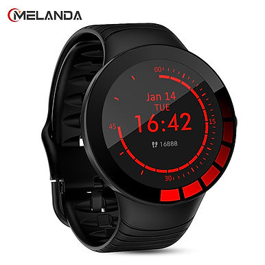 Melanda E3 Smartwatch Heart Rate Monitor IP68 Waterproof For IOS / Android