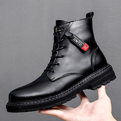Yeinshaars Genuine Leather Men Fashion Ankle Boots
