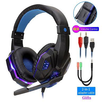 QearFun Professional LED Light Computer Gaming Over-ear Headphone