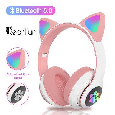 QearFun Bluetooth Wireless Headphone With Mic With LED