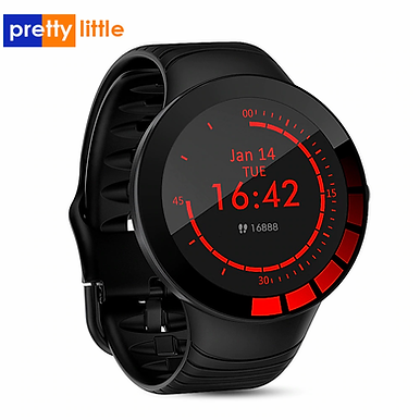 E3 Full Touch Screen Silicone Strap Smart Watch