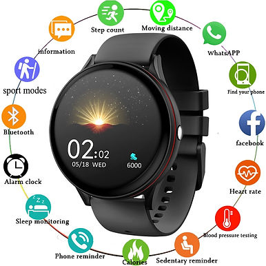 LIGE V19 Full Touch Screen Smart Watches Heart Rate / Blood Pressure Monitor