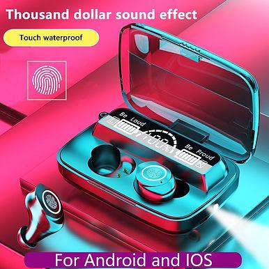 M17 TWS Wireless Bluetooth Earphones 9D Stereo Bass Sound - Extra Bass