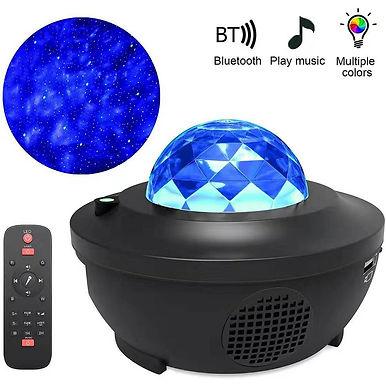 Projector Lamp LED Star Night Light Wave Sky  Bluetooth USB Voice Control Music
