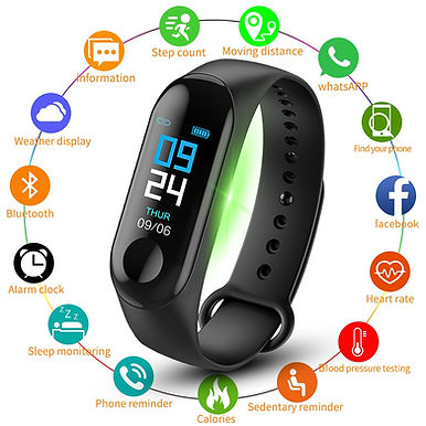 M3 Pro Smart Watch Wristband Fitness Tracker / Heart Rate Monitor