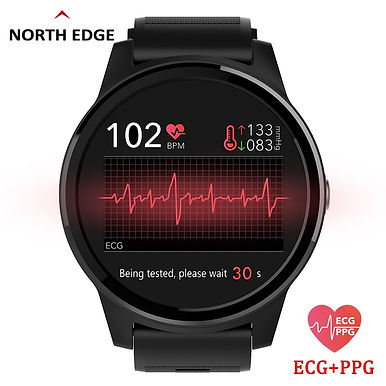 NORTH EDGE E101 Smart Watch 1.3inch / PPG & ECG / Blood Pressure /Heart Rate